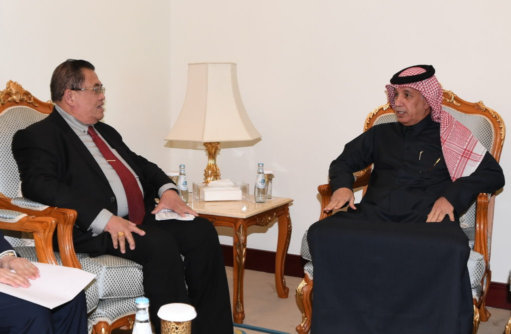 Abdullah D. Mama-O, Advisor to President of Philippines meet Saad AlMuraikhi, State Minister of Foreign Affairs Pic MOFA Qatar