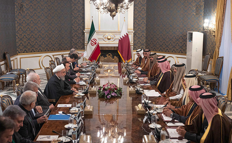 Dialogue Only Solution To Regions Crisis, Amir of Qatar, Qatar-Iran Agrees To Boost Trade & Tourism Bilateral Relations