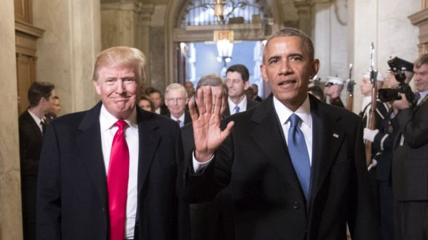 Barack Obama and Trump Pic Gettry