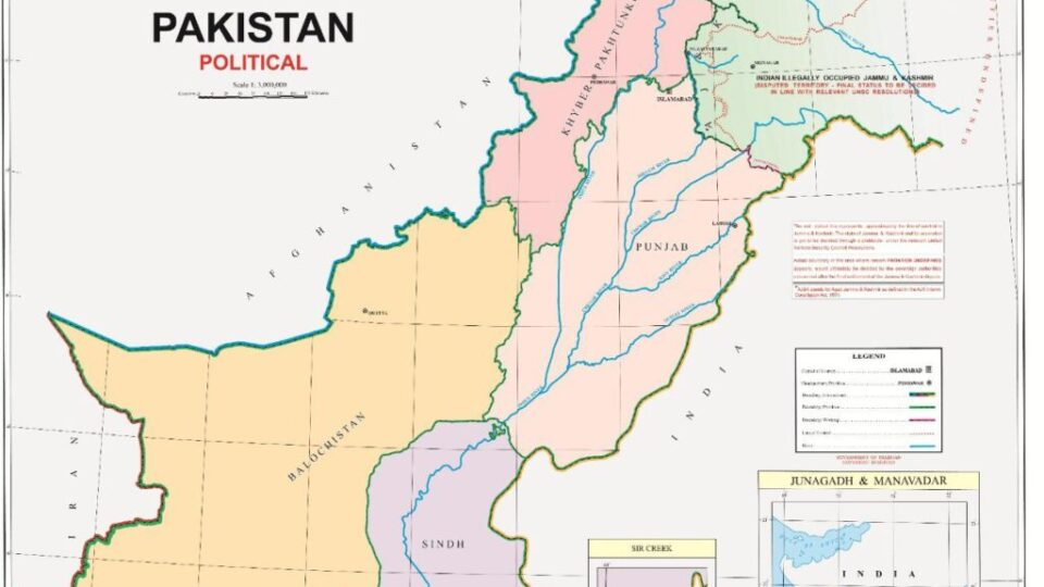 Political Map of Pakistan Released 04 Aug 2020