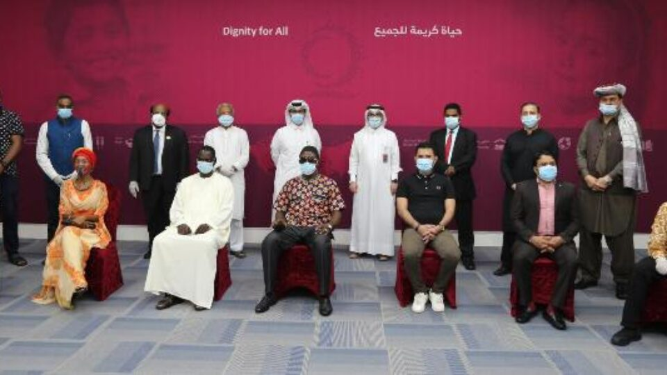 Qatar govt, Embassies and Communities representatives group picture 02 August 2020