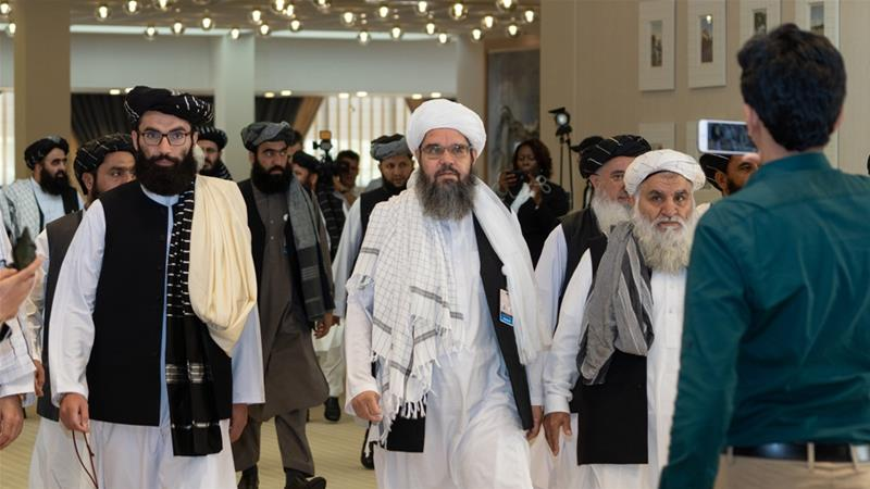 The delegation's arrival early on Saturday was announced by the Taliban officials