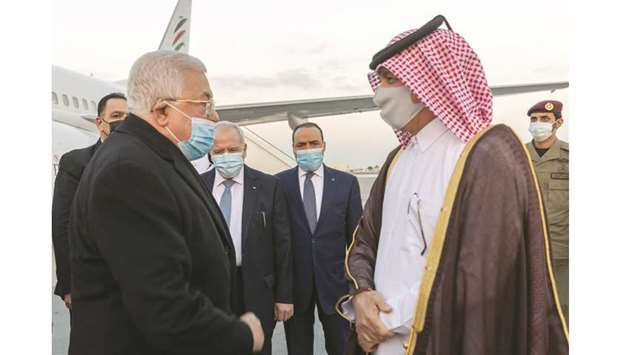 Amir Of Qatar Affirms Support For Palestinian Cause, Palestine President Mahmoud Abbas in Doha
