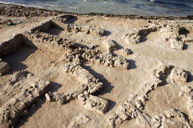 The archaeological site of Frieha, in northern Qatar