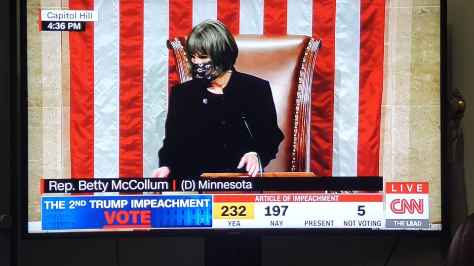 US Congress Approved 232 Vs 197 Votes To Impeach Outgoing US President Donald Trump
