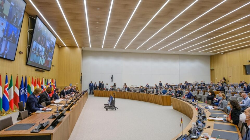 NATO Council meets on Afghanistan in Brussels, 14 April 2021 Pic Anadolu News