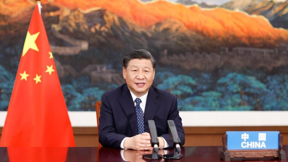 Chinese President Xi Jinping addresses the Global Health Summit 21 May 2021
