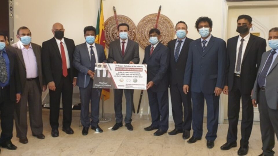 Qatar: Embassy Delivers 150 Oxygen Cylinders, 22 Pulseoximeters to Help Meet COVID Crisis in Sri Lanka