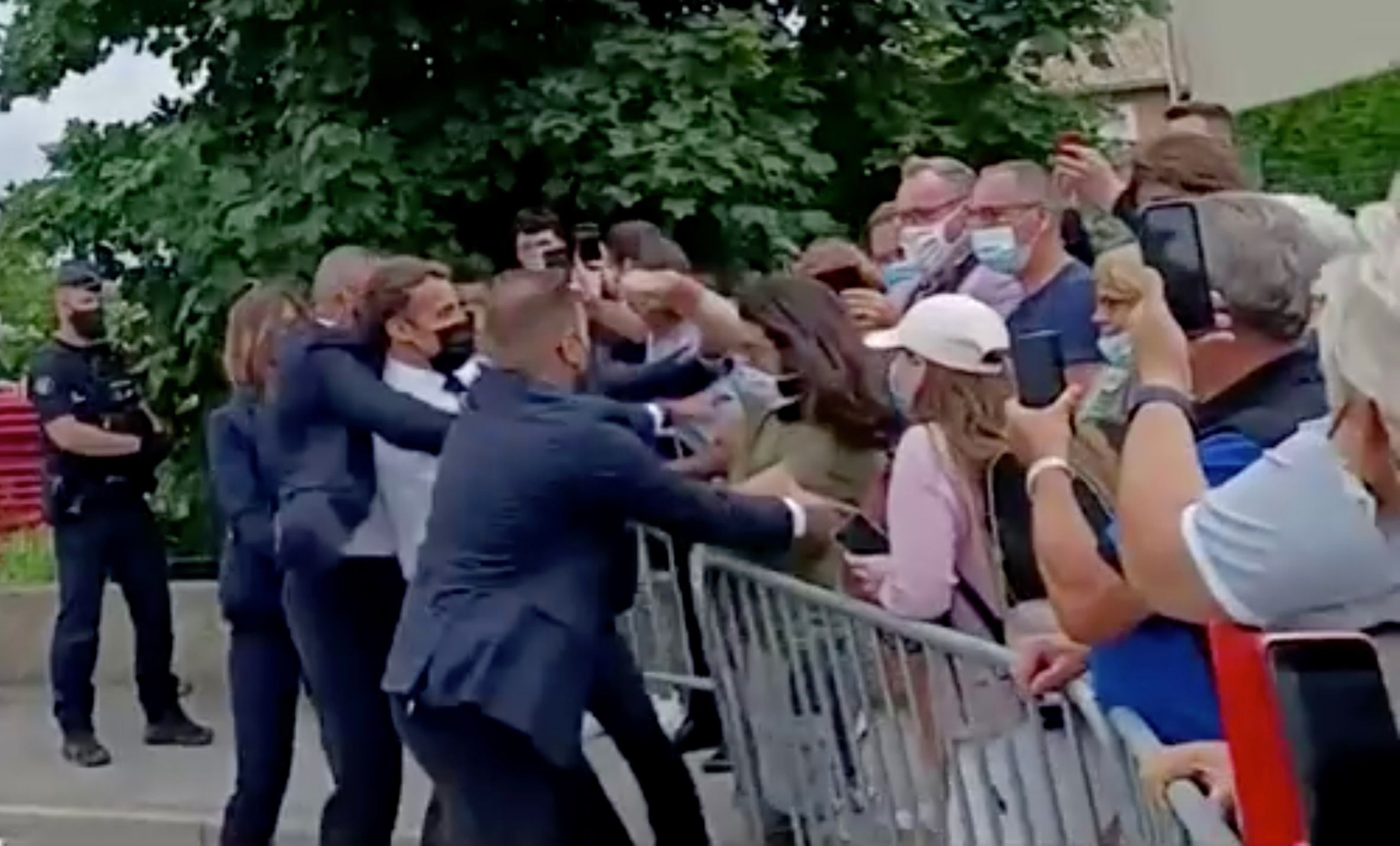 Macron Slapped In The Face In Southern France