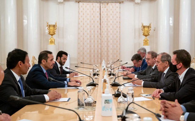 Qatar and Russia Agree that Humanitarian Aid to Afghanistan Be Independent of Political Developments